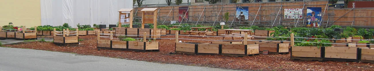 Folks share tools at this community garden